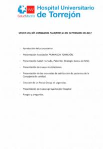 Adalipe en el Consejo Asesor de Pacientes del Hospital Universitario de Torrejón