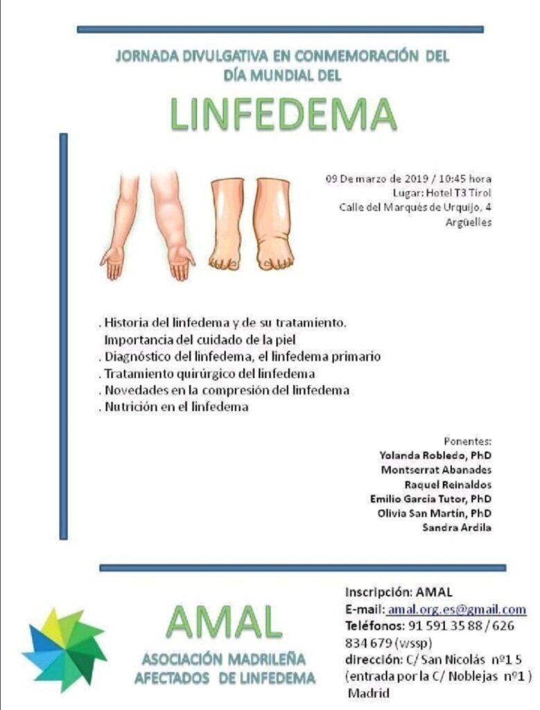 Cartel AMAL linfedema 2019